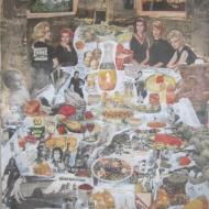 """""""A Table """" technique mixte collage/peinture 80x120cm"""