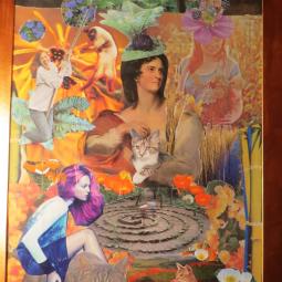 """Catspirale"" collage 40x60cm"