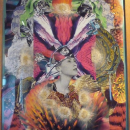 """""""Cosmos"""" collage Diam 40x60cm"""