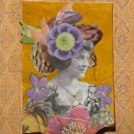 """""""Dame aux Artichaux"""" Collage 20x30cm Vendu"""