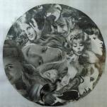 """""""sans titre"""" collage Diam 70cm"""