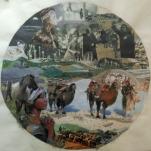"""La mort en hiver 2"" collage Diam 70cm"