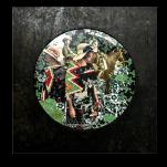 """""""Canopée"""" technique mixte collage/peinture 40X40cm"""