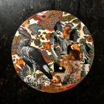 """""""Eagle eye"""" technique mixte collage/peinture 40X40cm"""