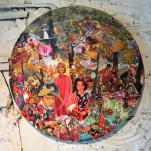"""""""Le jour des mort"""" collage Diam 70cm"""