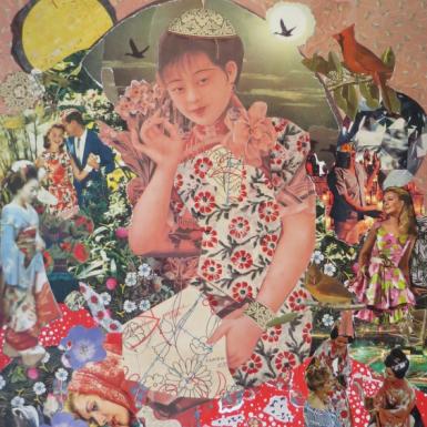 """Post Japan serie """"sans titre"""" collage 60X70cm"""