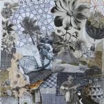 """""""Sans titre"""" technique mixte collage/dessin Diam 60x70cm"""