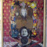 """""""Lunettes étoile """" technique mixte collage/peinture 50x70cm"""