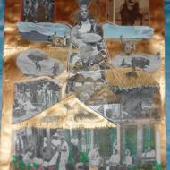 """""""Market place"""" technique mixte collage/peinture 50x70cm"""