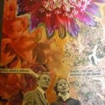 """""""Rêve """" technique mixte collage/peinture sur contre-plaqué (détail)"""