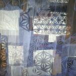 """""""Tissus de Papier"""" écrans composite technique mixte collage/peinture/pliage (détail)"""